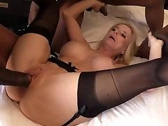 Granny Cammille gets loads of black jizz inside her cunt and