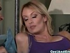 Hugetitted Stormy Daniels loves morning poke