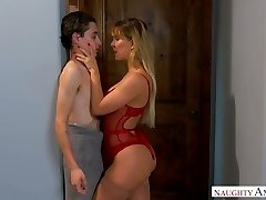 Quite bootyful sexpot Cherie Deville gets leaned over and penetrated doggy