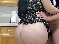 Hot Mummy Fucking in kitchen