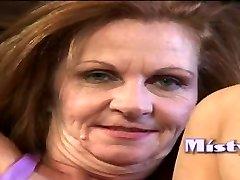 Grandmother Misti gets creampied