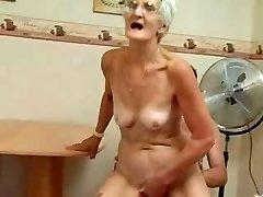 Insatiable Granny Just Loves Cock !