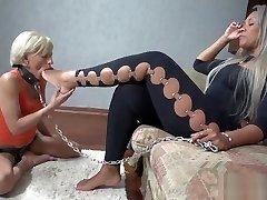 Brazil mistress lesbian foot slave 1