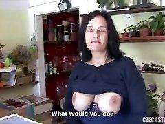 Big tit mature fucked in flower supermarket