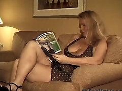 Big Busty Blonde Granny Takes Two Dicks mature mature porno granny old cumshots cumshot