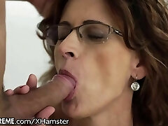 Glasses GILF Loves Taking Young Studs Pipe