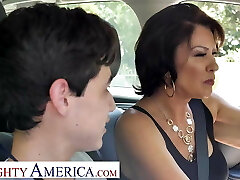 Naughty America Mrs. Fuller (Vanessa Videl) instructs Juan how