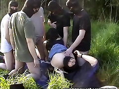 My wife gangbanged by 10 folks at highway rest area
