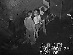 CCTV Behind a Sunderland Nightclub Part 1