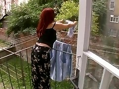 Fabulous Mature Wife Attacked While Stringing Up Laundry - Cireman