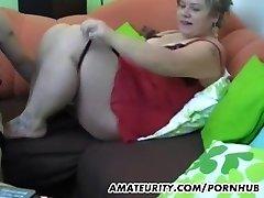 Round amateur Milf homemade hardcore action