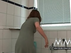 MMV Films Sexy German housewife loves a meaty cock