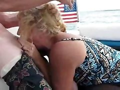 Inexperienced Mom DeepThroat On A Boat