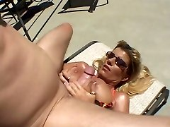 Super-hot Tanned Chesty Cougar Krystal Summers Banging Poolside