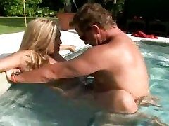 Yam-sized jugged hot mom Jazella Moore gets ravaged just right in the pool