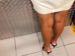 Female in high heel Mules