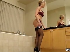 The Perect Wifey in High Heels and Underwear