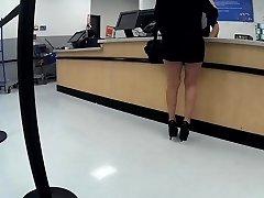 Latina granny high high-heeled shoes short cut-offs(Playtime)