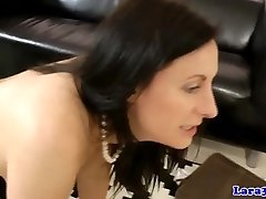 Mature european pussylicked and straponfucked