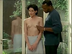 Brunette white chick with dark-hued lover - Erotic Interracial