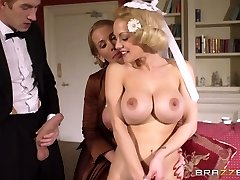Young rich boy had hard 3 way with two buxom mommies