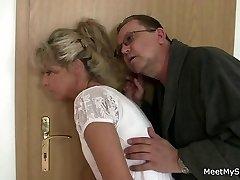 Parents tricks their stepson's GF into lovemaking