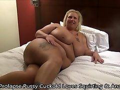 Prolapse Pussy Cuckold Loves Squirting & Anal