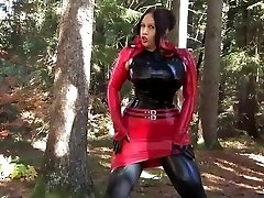 Busty Halloween Bombshell - Outdoor Blowjob Handjob with Latex Gloves - Cum on my Gloves