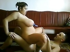 My CHubby Latina Gf with good-sized tits railing my cock on cam