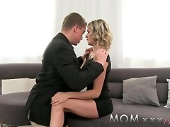 MOM Mature Ash-blonde with Swollen Hooters enjoys a good Fucking