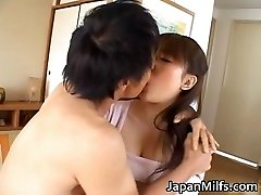 Horny japanese MILFS deepthroating and fucking
