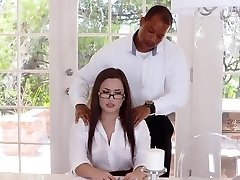 TLBC - Sexy Secretary Fucked By Manager In Caboose