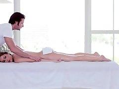 Sexy siren gets her huge baps and pierced vagina massaged