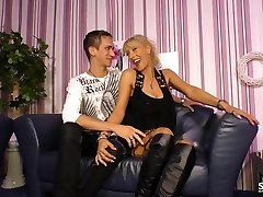 SexTape Germany - Goth delectation with a German BBW plowing a bizarre dude dressed as a maid