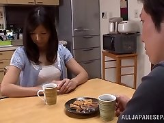 Hot mature Asian housewife Chihiro Uehara in steamy 69