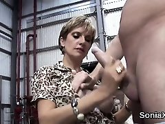 Unfaithful brit mature woman sonia exposes her large hoote
