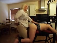 Strapon - Hot Plumper Mistress Using Her Boytoy's Ass