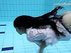 Sexy underwater nubile swimming