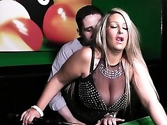 Big-chested bbw gf gives head and screwed on pool table