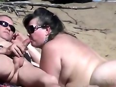 Spying public suck jobs at naked beach