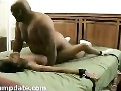 BIG fat black guy smash skinny ebony girl.