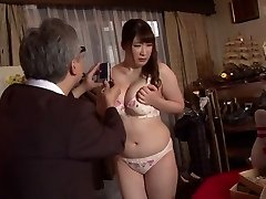 Crazy Japanese super-bitch Chitose Saegusa in Crazy public, striptease JAV video