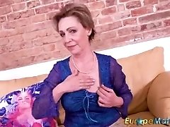 EuropeMaturE Milena Geting Horny During Sexy have fun