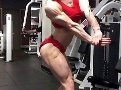 Ripped hard sexy muscle woman