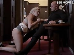 Glamour hot light-haired honey Victoria Redd sucks off and pounded