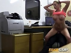 Fake Cop Hot gym Cougar pulled over and pummeled