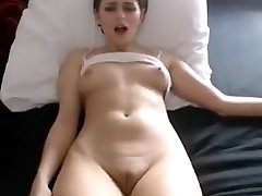 Sexy stunner nipples fingering humungous cameltoe pussy