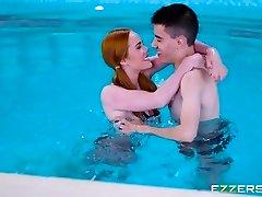 Ella Hughes And Jasmine Webb In My Pool My Rules