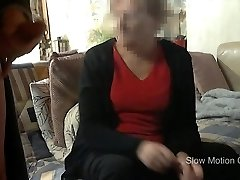 Mummy in law staring at my rock-hard cock wile i jack off an cum