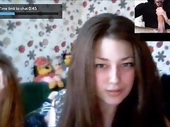 CHATROULETTE- Russian Nymphs Big Cock Reactions 3